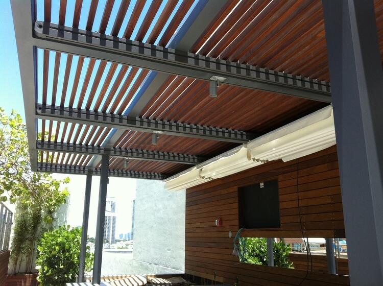 Rolling roof kölgəlik sistemi