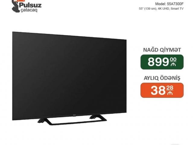 Hisense Tv 139 Ekran 4K Smart İlkin Odenissiz Arayissiz