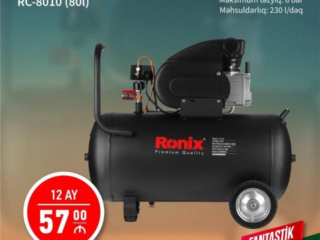 Hava Kompressor 80 Litr Ronix Ilkin Odenissiz Arayissiz Zaminsiz