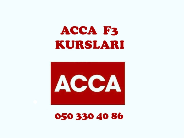 ACCA F3 kurslari
