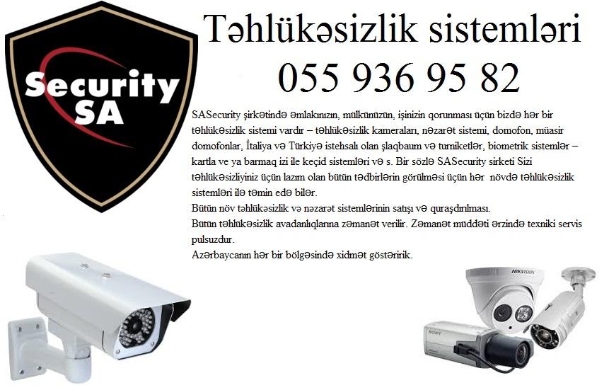 ❈Col ucun tehlukesizlik kameralarinin satisi ❈ 055 936 95 82❈